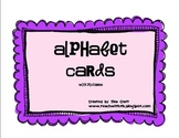 Alphabet Cards Red/Blue with pictures