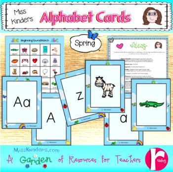 Beginning Sound Alphabet Cards Spring Theme