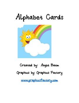 Alphabet Cards Spring/Summer theme