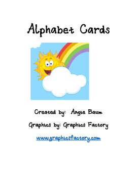 Alphabet Cards Spring/Summer theme