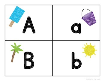 Alphabet Cards {Summer fun}