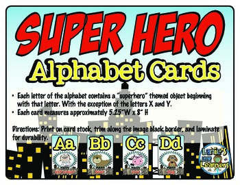 Alphabet Cards {Superhero Theme Printables!}