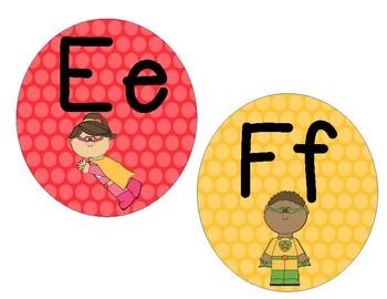 Alphabet Cards: SuperheroThemed