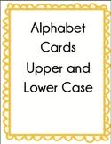 Alphabet Cards Upper Case and Lower Case Set