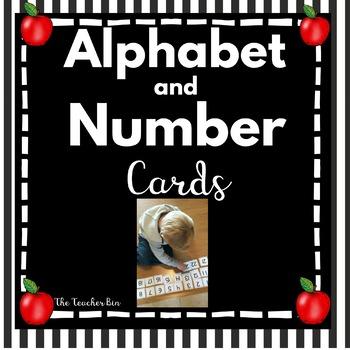 Kindergarten - Sp. Ed. - Alphabet Cards  Uppercase & Lowercase -  Number  1-100