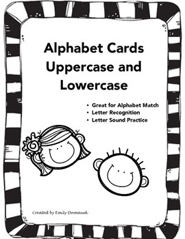 Alphabet Cards (Uppercase & Lowercase letters included)