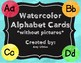 Alphabet Cards: Watercolors without Pictures