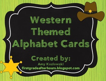 Alphabet Cards: Western Themed