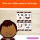 Nonfiction Alphabet Cards With African Beaded Design and Real Life Photos
