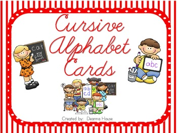 Alphabet Cards With Cursive Letters