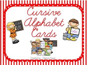 Alphabet Cards With Cursive Letters