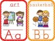 Alphabet Cards With Manuscript Letters