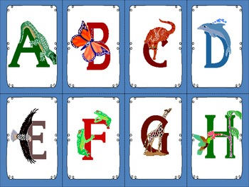 Alphabet Cards With Pictures and Sign Language