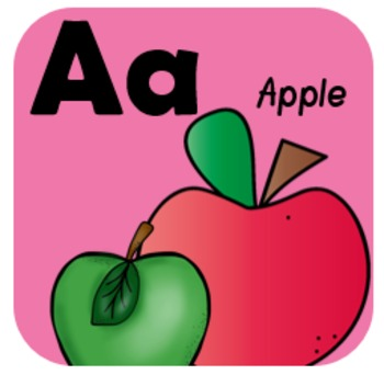 Alphabet Cards— Word Wall (Bright Colors)