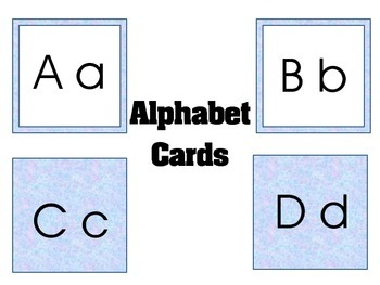 Alphabet Cards (Word Wall Highlights)