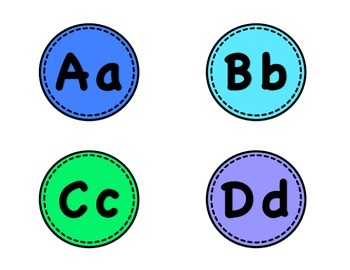 Alphabet Cards - Word Wall, Leveled Book Bins, Alphabet Display