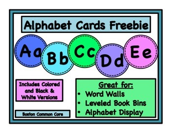 Alphabet Cards - Word Wall, Leveled Book Bins, Alphabet Display