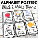 Alphabet Posters | Black & White Classroom Decor | Zaner-Bloser Style