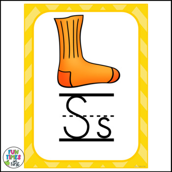 Alphabet Cards (Zaner-Bloser) Bright Chevron Theme