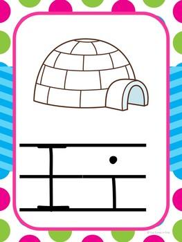 Alphabet Cards (Zaner-Bloser) Bright Polka Dot and Chevron Theme