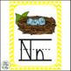 Alphabet Cards (Zaner-Bloser)  Chevron Theme