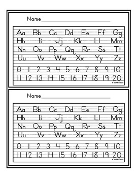 Alphabet Cards - Zaner Bloser - Manuscript and Cursive