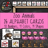 Alphabet Cards - Zoo Animals Decor