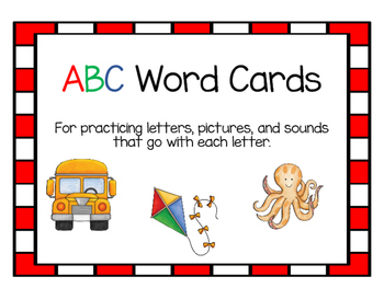 Alphabet Cards and ABC Matching Game