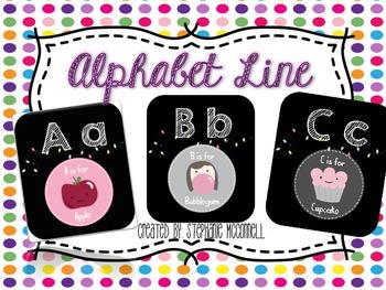 Alphabet Cards and Alphabet Line
