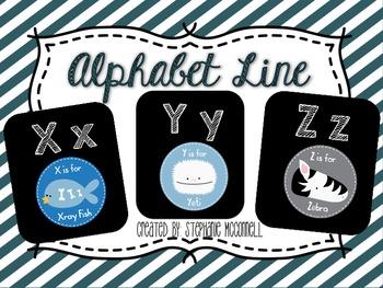Alphabet Cards and Alphabet Line- Animal Edition