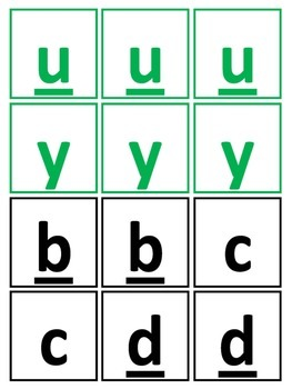 Alphabet Cards and Blends for Individual Word Work