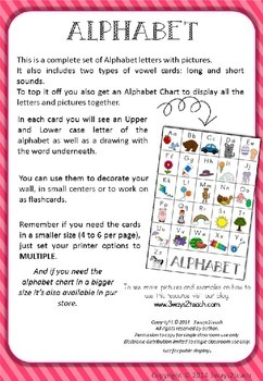 Alphabet Cards and Chart
