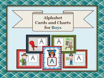 Alphabet Cards and Charts for Boys (D'Nealian and Zaner-Bl
