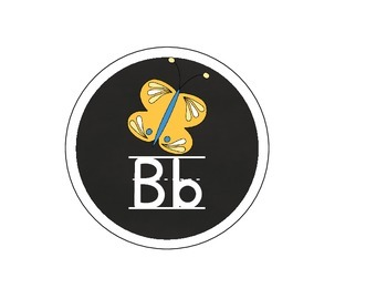 Alphabet Cards-black circle