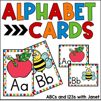 Alphabet Cards {colorful polka dots}