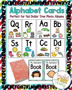 Alphabet Cards for 4x6 Dollar Tree Photo Albums