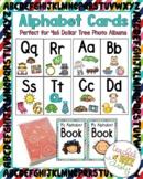 Alphabet Cards for 4x6 Dollar Tree Photo Albums