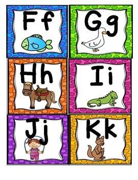 Alphabet Cards for Center Games