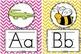Alphabet Cards for Display BRIGHT CHEVRON- 3 sizes!