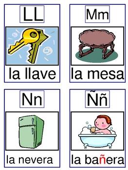 Alphabet Cards for House Vocabulary and Go Fish Game