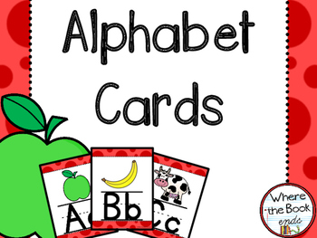 Alphabet Cards for Primary Students