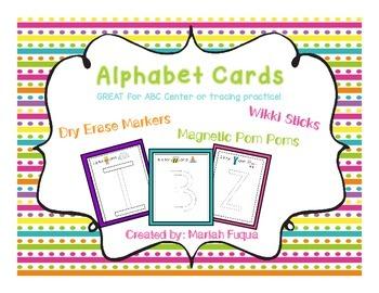 Alphabet Cards-for Wikki Sticks and other manipulatives