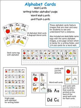 Alphabet Cards for Wonders - half page size plus extras