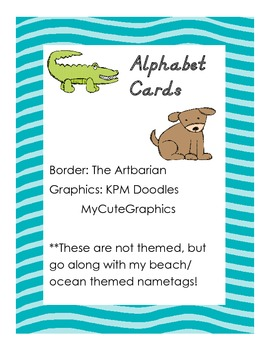 Alphabet Cards for Word Wall
