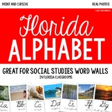 Alphabet Cards for Word Wall - All Things {FLORIDA}