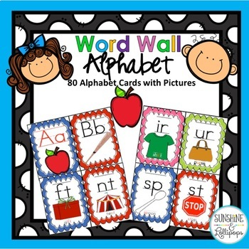 Word Wall Letters Alphabet Cards