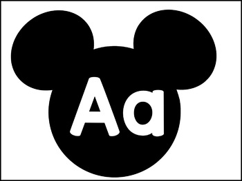 Alphabet Cards for Word Wall or Personal Reference Rings Mickey Mouse Theme
