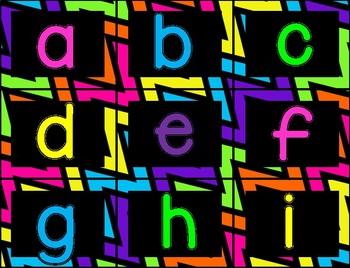 Alphabet Cards {neon edition}