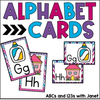 Alphabet Cards {pretty chevron}