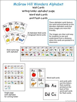 Alphabet Cards to go with Wonders reading program